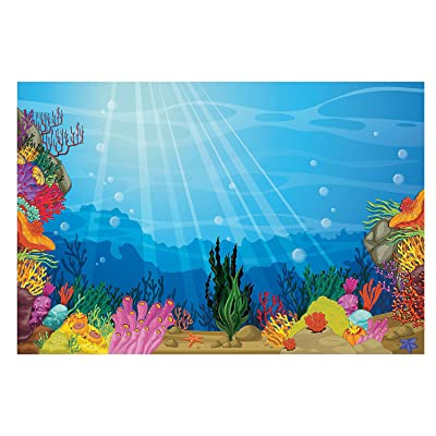 Fun Express - Vbs Under The Sea Backdrop Banner - Party Decor - Wall Decor - Preprinted Backdrops - 3 Pieces: Toys & Games