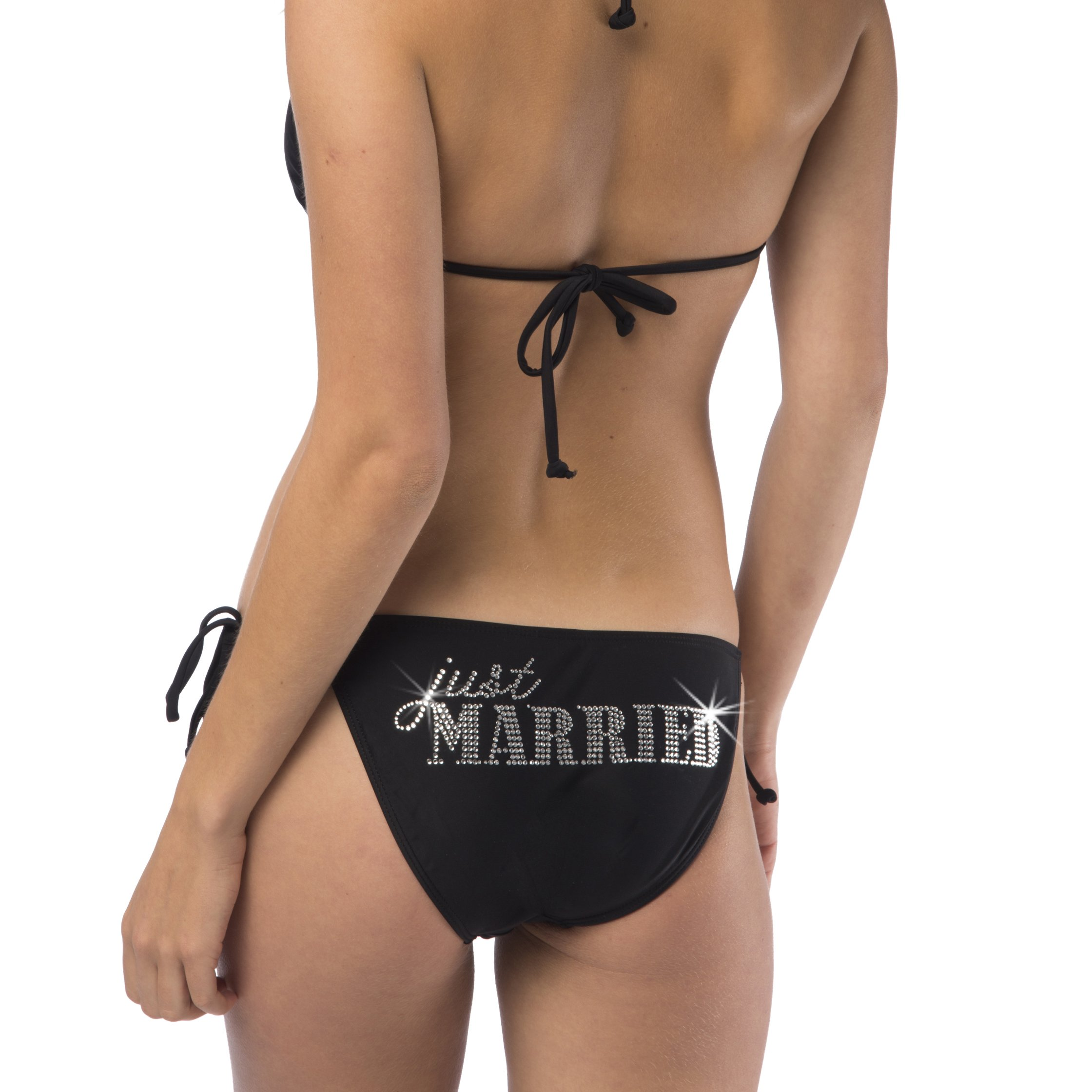 Just Married Classic String Bikini - Black (M (34-36 B/C, 7/8))