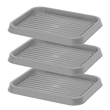 Amazon Com Iris Usa Sht S Shoe Tray Small Gray Home Kitchen
