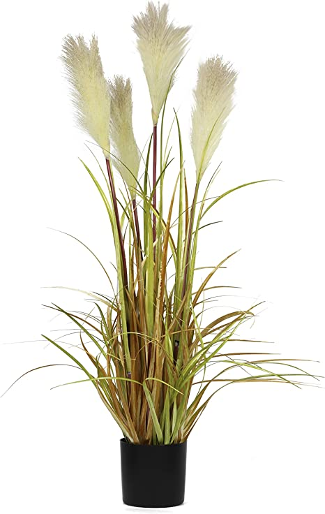 Amazon Com Ncyp 35 Tall Artificial Plants For Home Decor Indoor Natural Large Faux Fake Potted Plants With Black Planter Pot Office Floor Decorative Reed Grasses Gift
