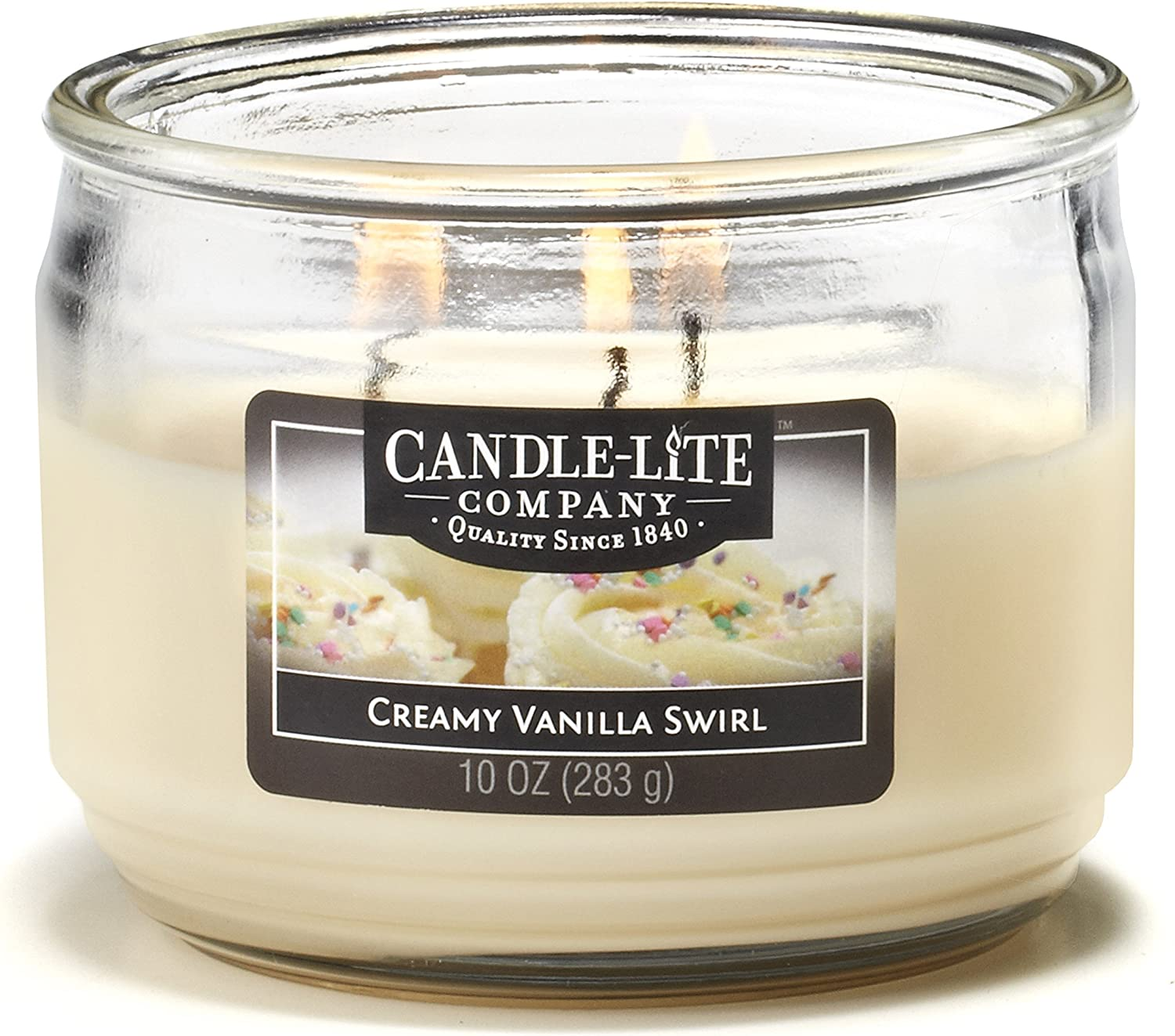 CANDLE-LITE Jar Candle, 10 oz, Unknown
