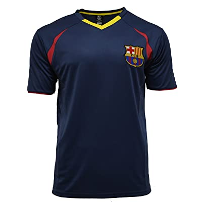 Fc Barcelona Adult Training Jersey Performance Polyester -Shirts - Home -Away (BLUE T1E19, S)