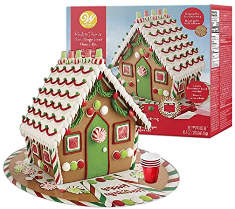 Gingerbread House Kit Mega Traditional Gingerbread House Pre Assembled Includes 4 Types Of Candies Icing Fondant 4 Types Of Candies Colorful