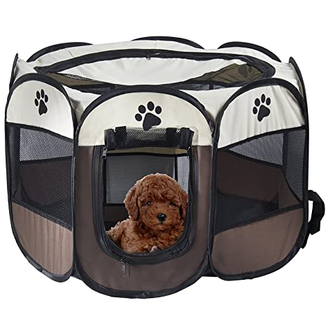 REAYOU Pet Portátil Plegable Playpen Portable Pet House, Carpa Plegable Casa para Dog Cat Puppy