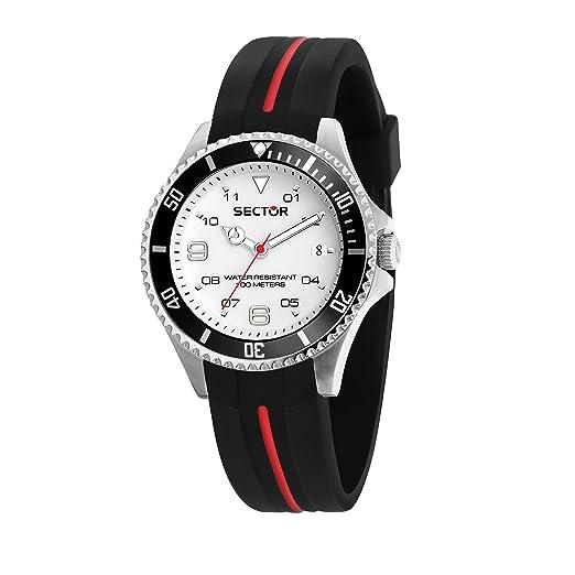 Sector NO Limits Reloj Analógico para Hombre de Cuarzo con Correa en Silicona R3251161040: Amazon.es: Relojes