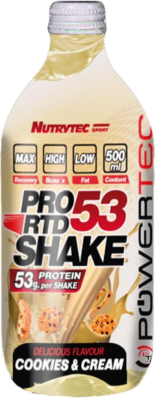 Powertec Pro RTD Shake 53, Sabor a Cookies - 500 ml: Amazon ...