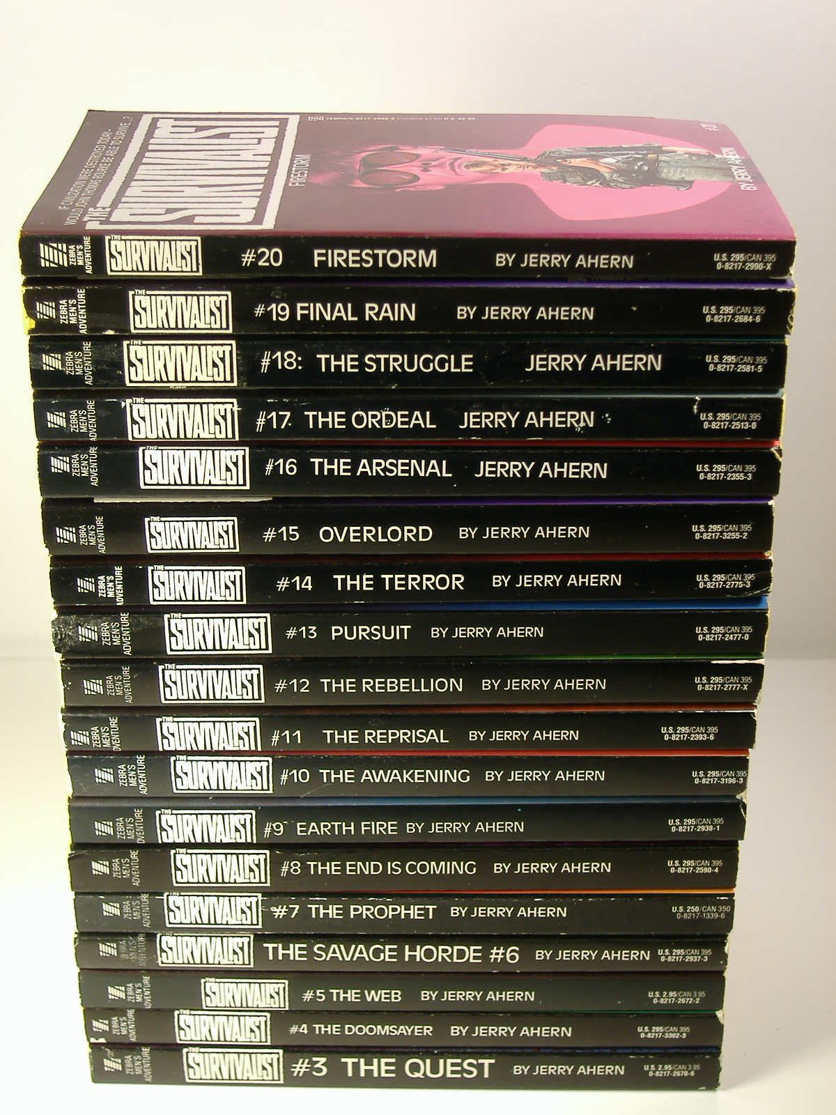 The Survivalist 18 volume set #3 thru #20 includes #3, #4, #5, #6, #7, #8,  #9, #10, #11, #12, #13, #14, #15, #16, #17, #18, #19, and #20: Ahern:  Amazon.com: ...