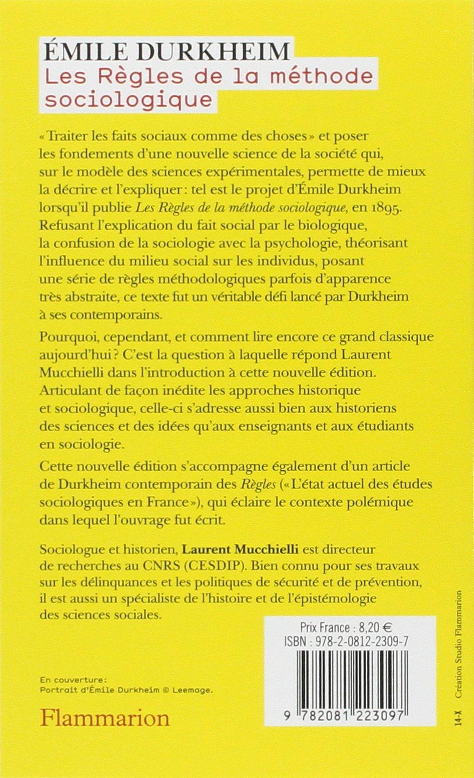 """Résultat de recherche d'images pour """"emile durkheim les règles de la méthode sociologique"""""""