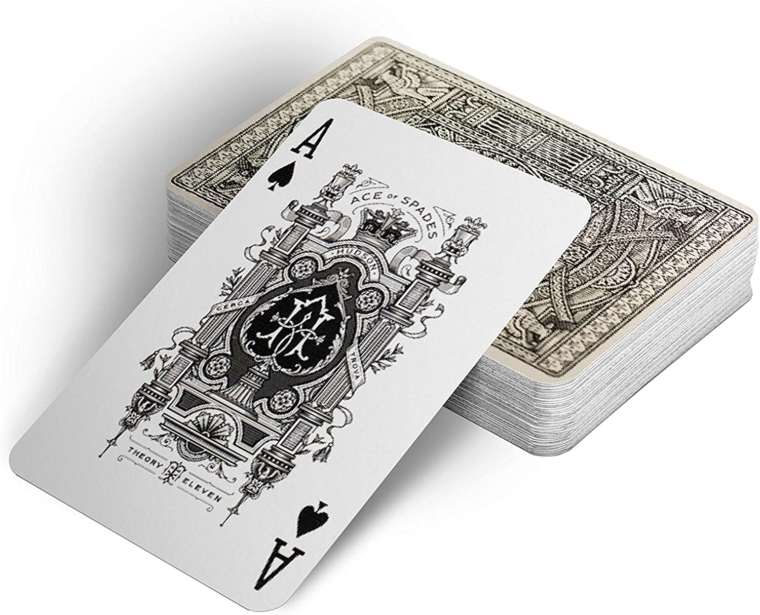 SYNCSPIKE Black Hudson Playing Cards Deck /& Clear Playing Cards Case Made in America. A Premium Playing Cards Inspired by a Legendary Factory Dating Back to 1856