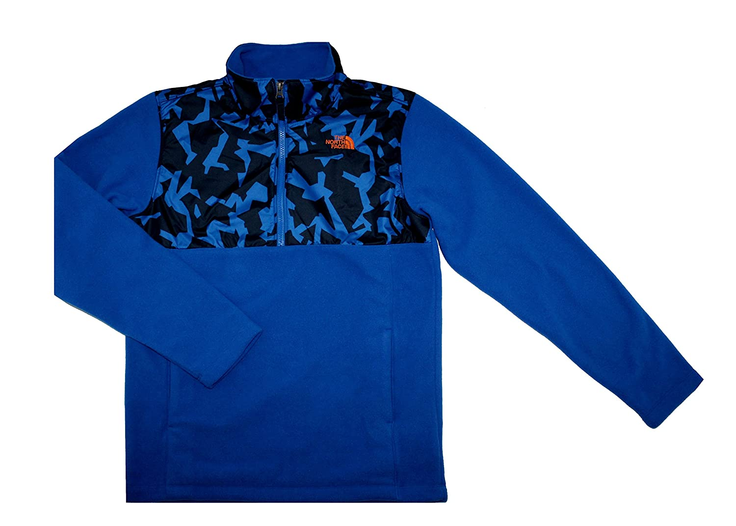 discount THE NORTH FACE Big Boys 200 Tundra 1/4-Zip Fleece Pullover Monster Blue supplies
