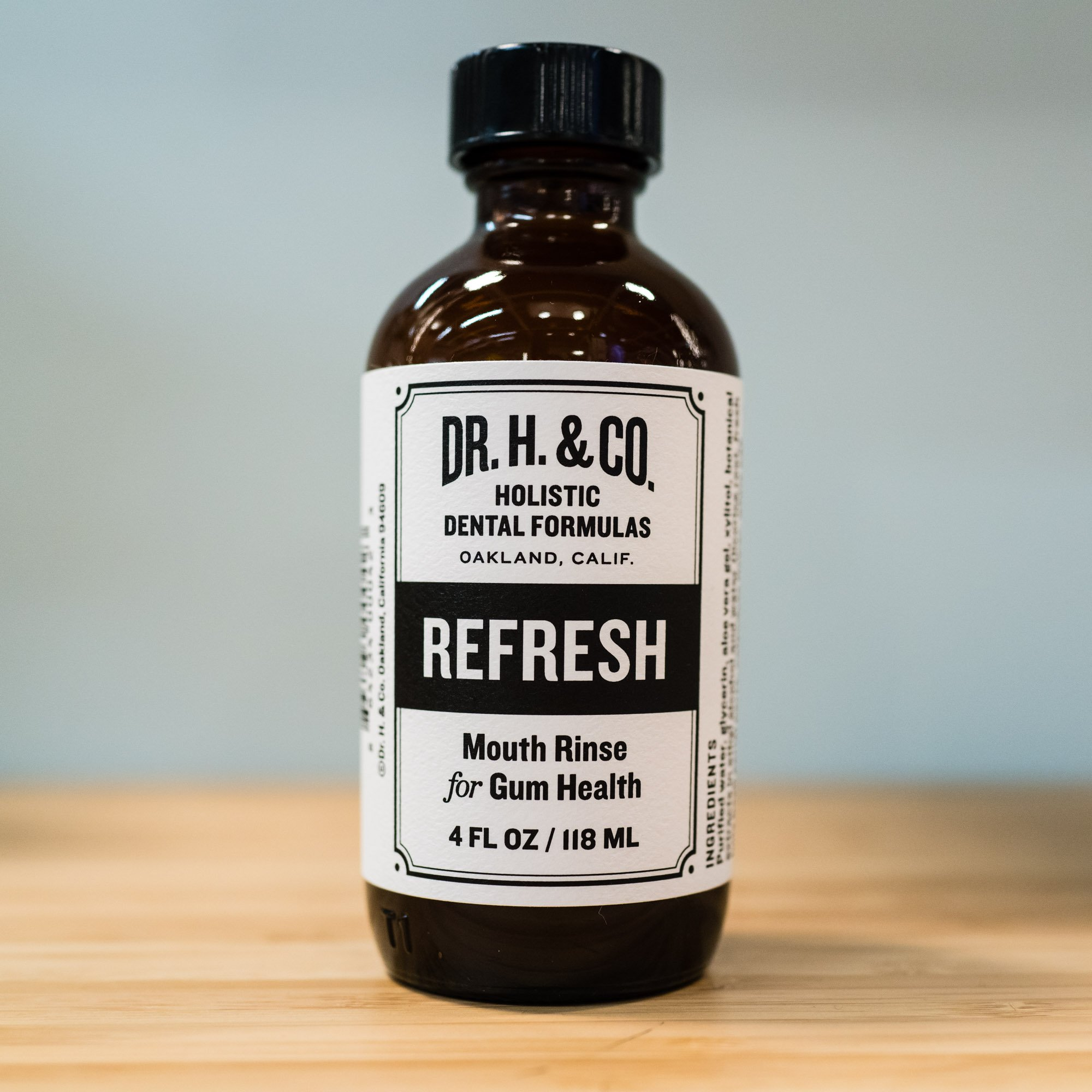 Dr. H. & Co. Dentist Formulated Refresh Mouthwash Ð All Natural Herbal and Holistic Mouth Rinse for Healthy Gums and Teeth (4 oz Glass Bottle) by Dr. H. & Co. (Image #4)