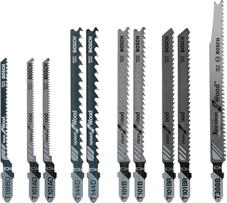 BOSCH TW21HC Jigsaw Blade Set,T-Shank
