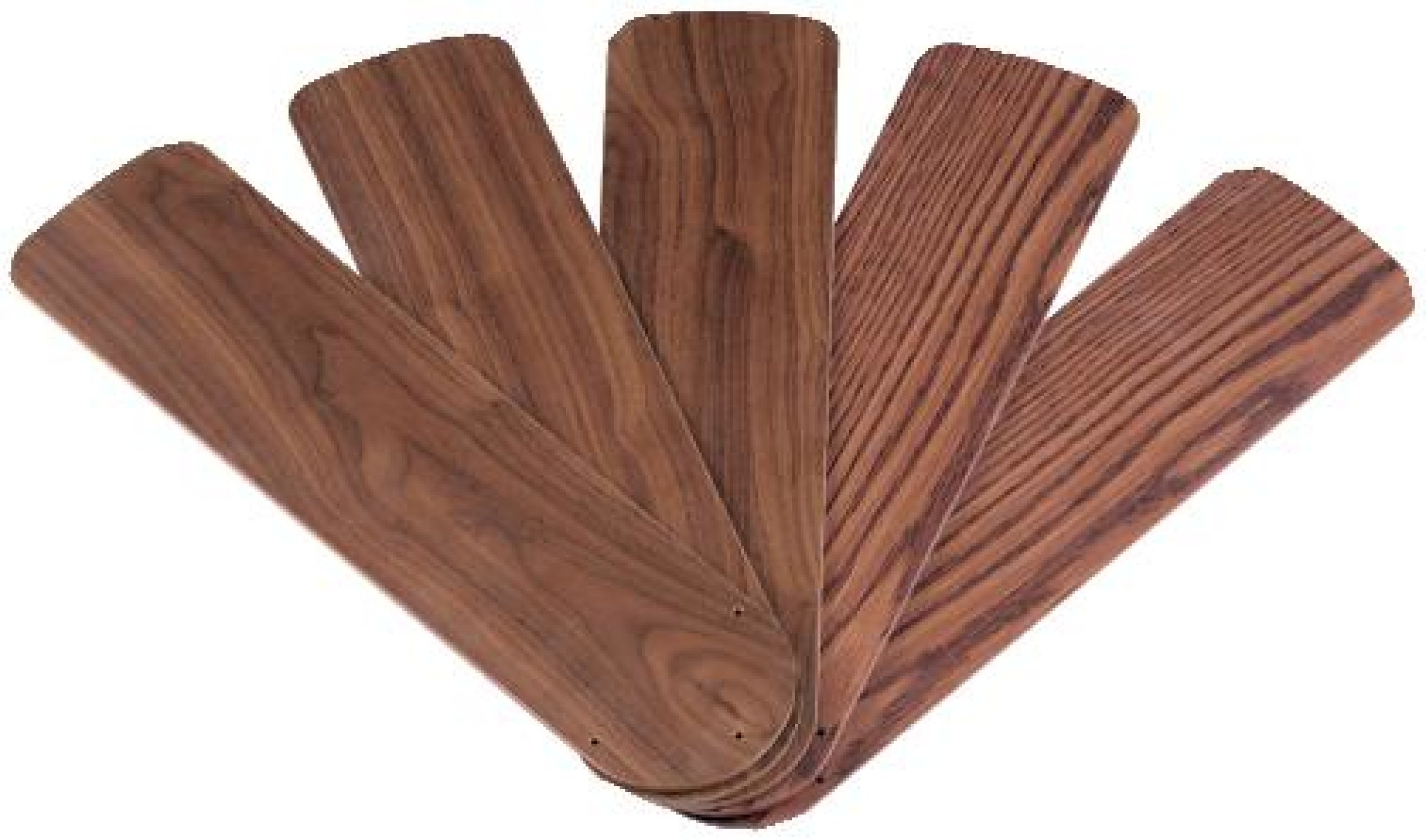 Wellington 7741000 42-Inch Oak/Walnut Replacement Fan Blades, Five-Pack by Westinghouse (Image #1)