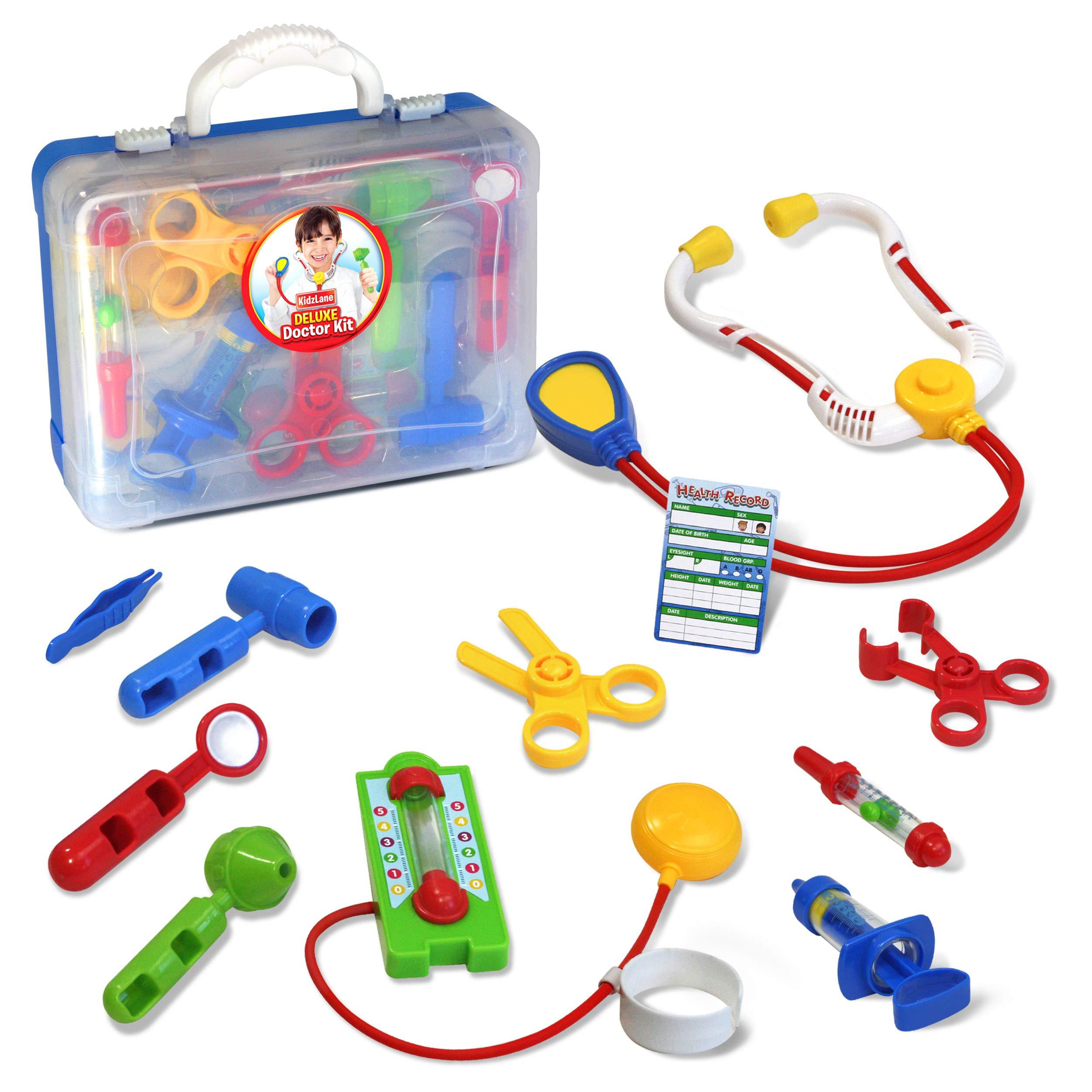 195d13d62ddc Kidzlane Deluxe Doctor Medical Kit - Pretend Play Set for Kids - CN ...
