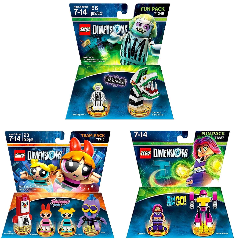 Lego Dimensions Powerpuff Girls Team Pack And LEGO Dimensions Lego Dimensions Beetlejuice Fun Pack Teen Titan Go Fun Pack Exclusive Bundle zolier