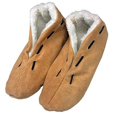 online retailer eee24 e4ef7 Warme Herren-Hausschuhe für den Winter - Pantoffeln mit Anti-Rutsch-Sohle  und dickem Fell - Leder-Puschen, Hüttenschuhe