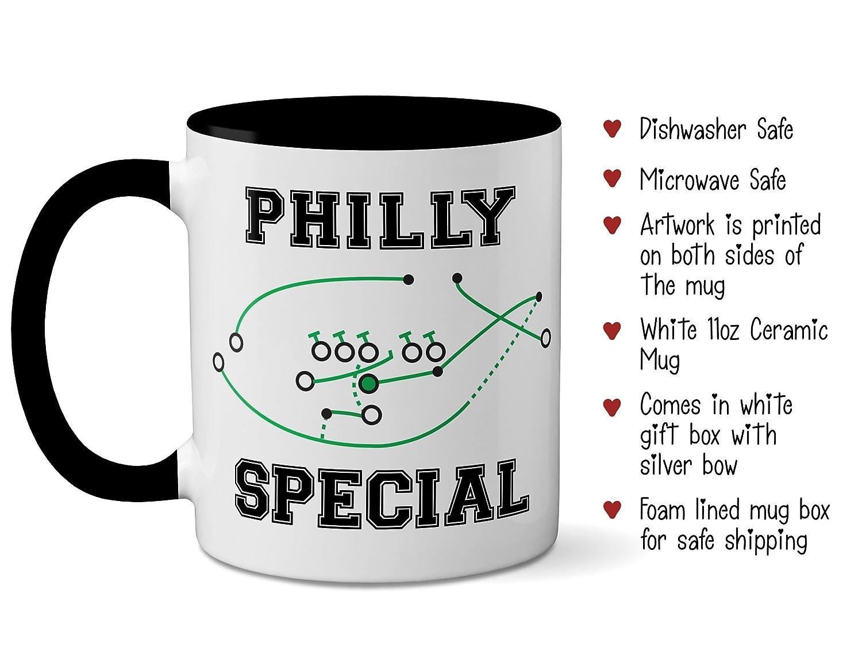 Philly Special Mug - Funny Philadelphia Eagles Superbowl Mug - 4th Down  Play - Nick Foles Touchdown - Special Football Mug - Super Bowl  Championship ... b91b40007c