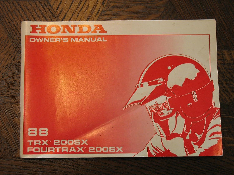 Honda TRX200SX TRX200 SX TRX 200SX FOURTRAX Nos OEM Manual ...
