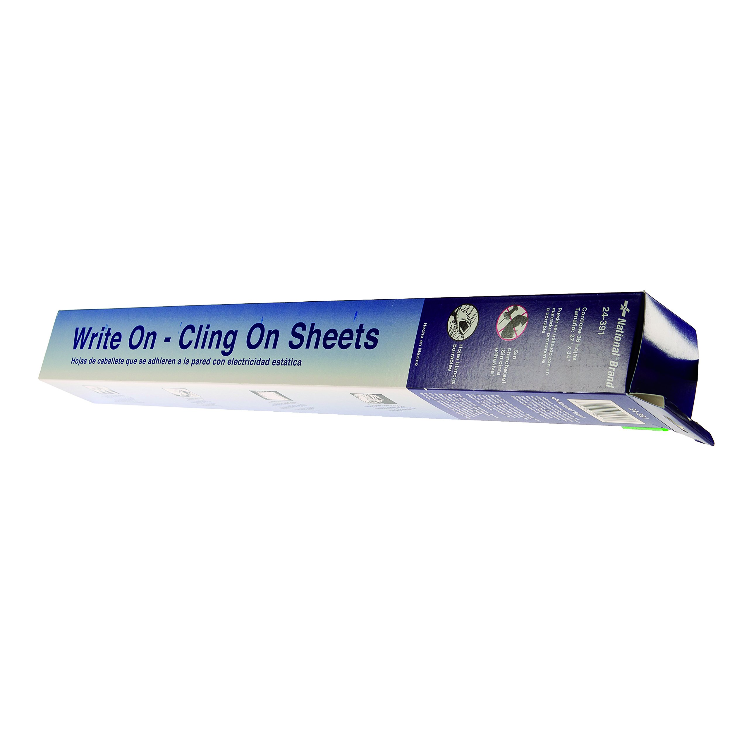 National Brand Write On - Cling On Static Easel Pad, Plain Poly Sheets, 27 x 34 Inches, 35 Sheets (24391)