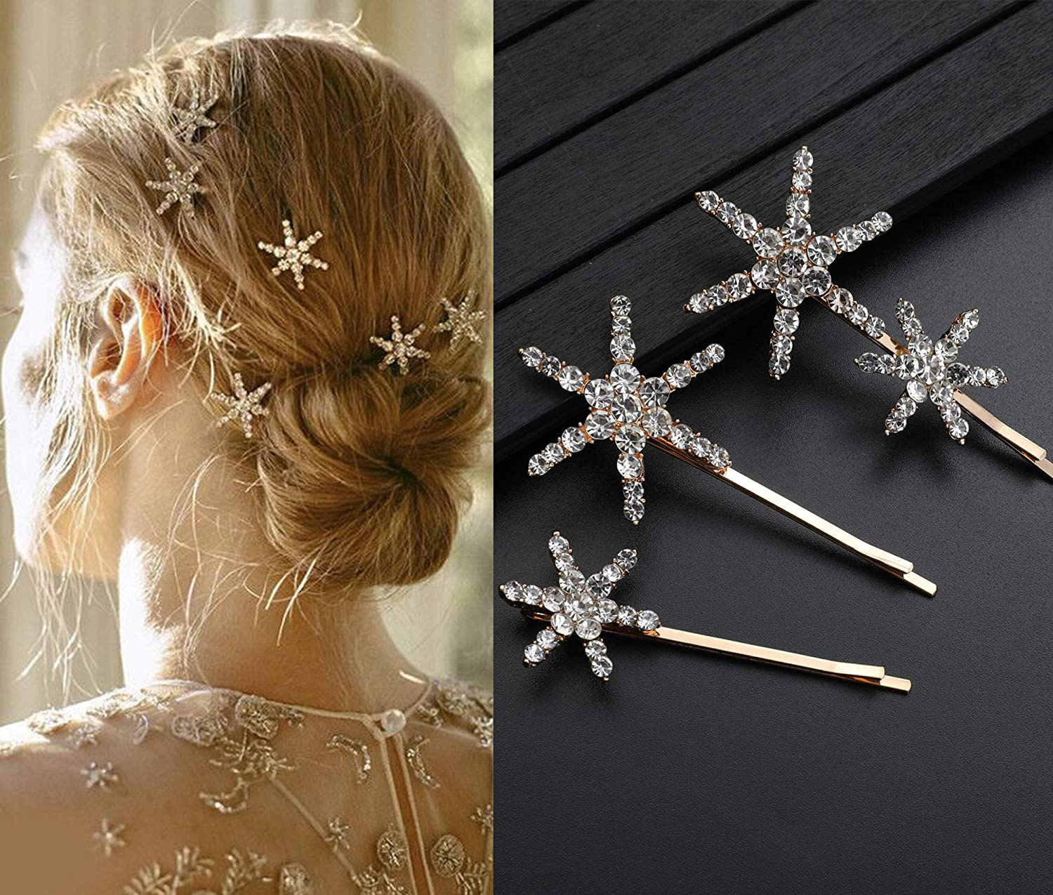 Pearl Hair Jewelry Wedding Hair Pins Gift for Teen Girls and Women Prom Jewelry Gray Pearl Beach Set of Pins Crystal Bobby Pins