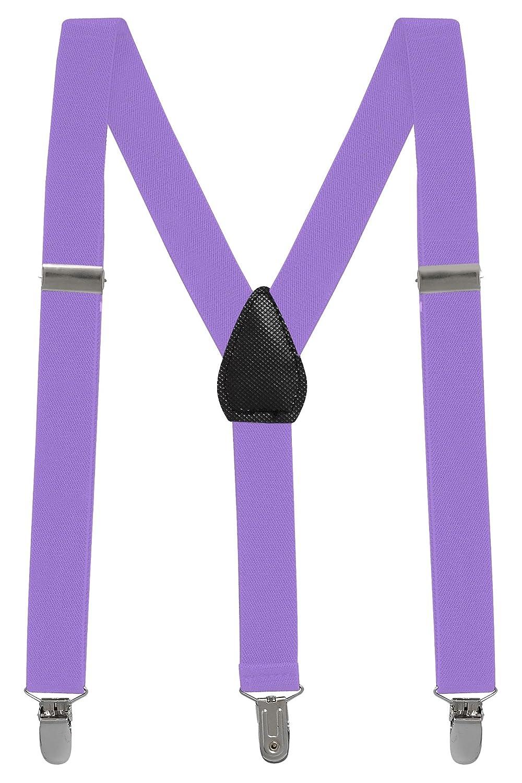 Buyless Fashion Kinder und Baby 2, 5 cm Elastische verstellbare Y Hosenträger - Mit starken Clips