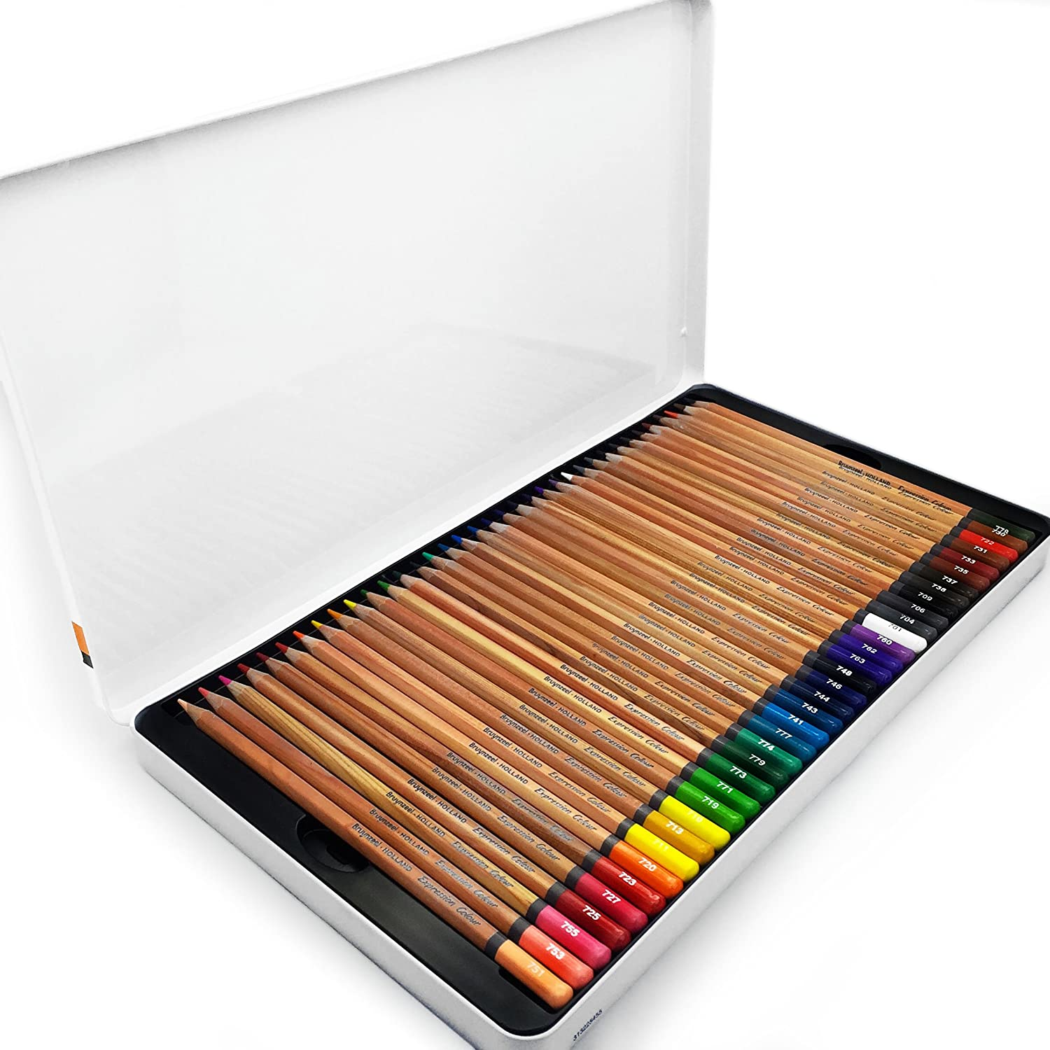 Bruynzeel - Expression Colour Artist Colouring Pencils - Gift Tin of 72 Assorted Colours - 7705M72 Royal Talens