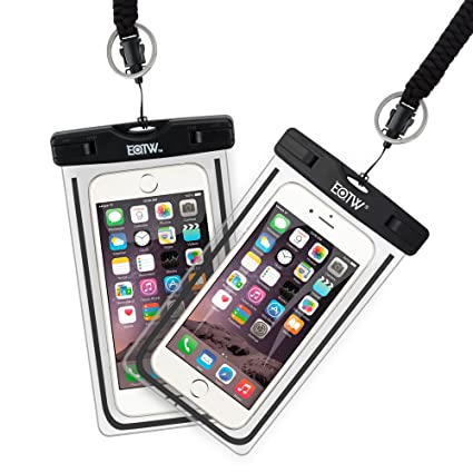 buy popular 1bd6d dc6ae EOTW 2 Pack IPX8 Universal Waterproof Case for Smartphone Device to 6