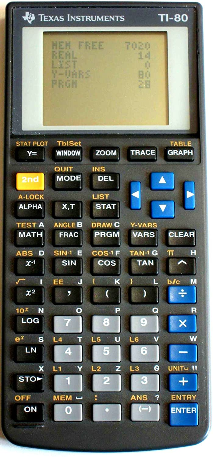Amazon.com : Texas Instruments TI-80 Graphing Calculator : Electronics