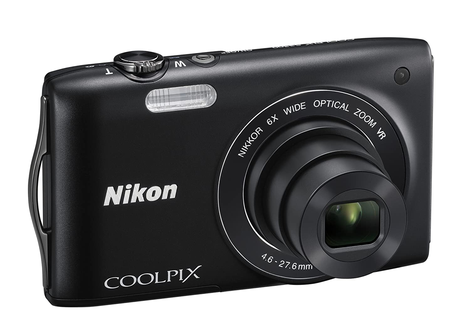Amazon.com : Nikon COOLPIX S3300 16 MP Digital Camera with 6x Zoom NIKKOR  Glass Lens and 2.7-inch LCD (Black) : Point And Shoot Digital Cameras :  Camera & ...