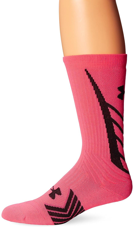 アンダーアーマー メンズ アンディナイアブル すべてのスポーツ クルーソックス(1ペア) B00KR8KWIK L ピンク ピンク L