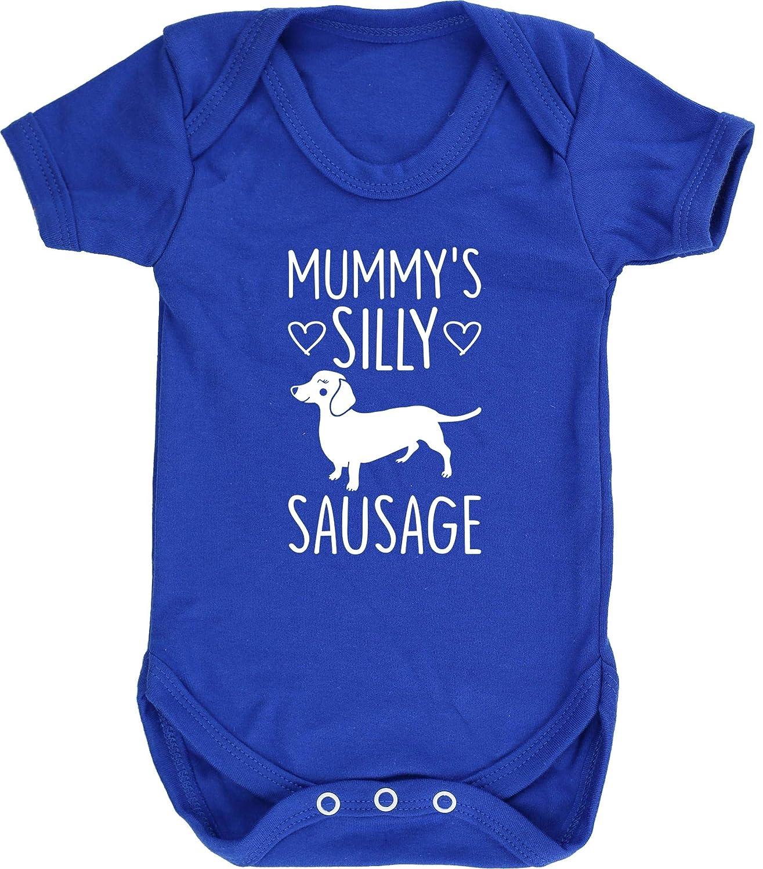 Short Sleeve Dog Dachshund Baby Vest Bodysuit Boys Girls Hippowarehouse Mummys Silly Sausage