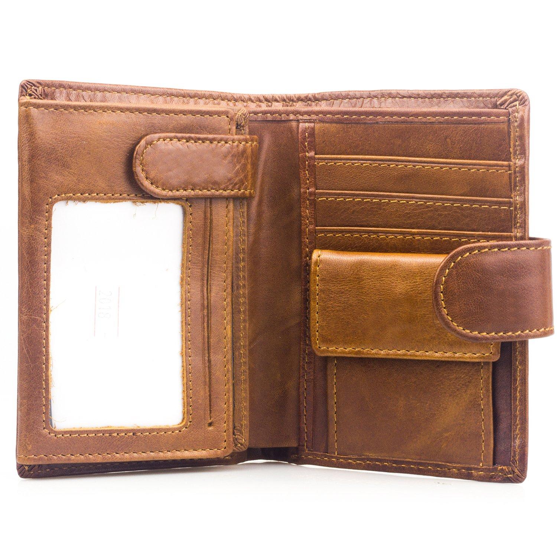 d729b7f880 BAGZY Portafoglio uomo in vera pelle morbida Borsa Borsellino Porta Carte  di Credito Pochette Portamonete Titolare della carta Tasca Titolare della  patente ...