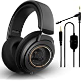 Philips SHP9600 Wired, Over-Ear, Headphones, Comfort Fit, Open-Back 50 mm Neodymium Drivers (Black) + NeeGo Attachable…