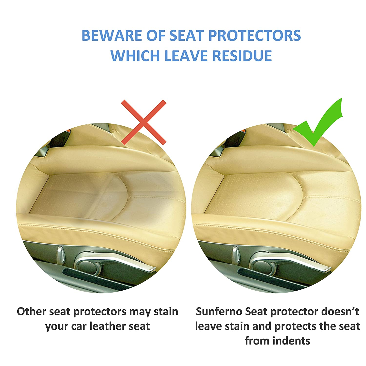 Protects Your Car Seat from Baby Car Seat Indents, Sunferno Car Seat Protector