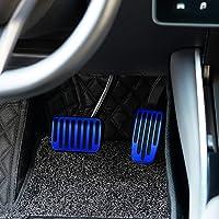 OLAIKE Tesla Model 3 Non-Slip Performance Foot Pedal Pads Covers, Anti-Slip Aluminum Alloy Accelerator Pedal & Brake…