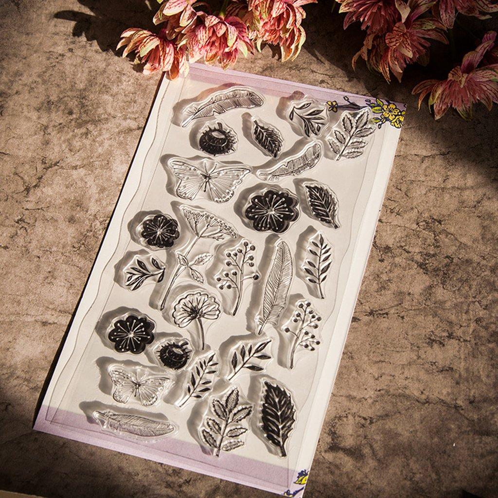 Ranuw Timbre Clair,Timbres De Joint En Silicone Clair Papillon Pour D/écor De Carte Photo De Scrapbooking Album Bricolage