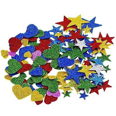 1.27 Onza Pegatina de Espuma Brillo Estrellas de Espuma y Pegatinas de Corazones: Hogar