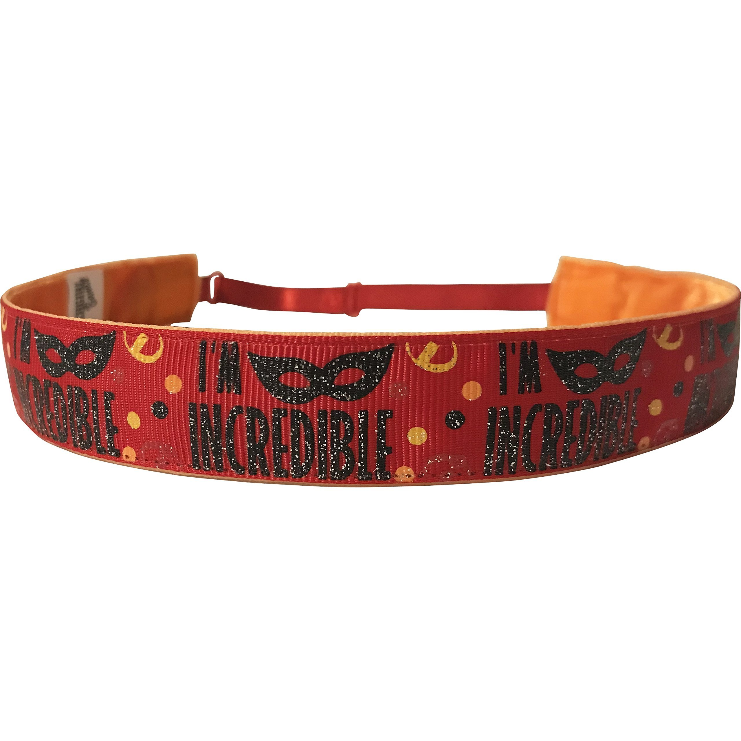 BEACHGIRL Bands Headband Adjustable Hair Band - Non-Slip Sport Band Women & Girls Incredibles Red