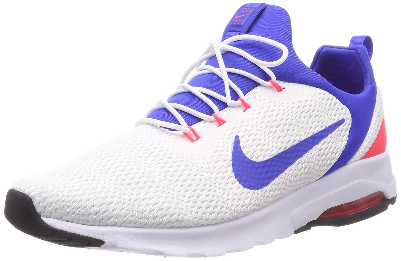 Nike Air MAX Motion Racer, Zapatillas de Gimnasia para Hombre 45.5 EU|Blanco (Whiteultramarinesolar Re D O F 100)