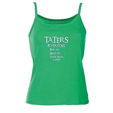 Taters, Spagetti Traeger Top - Gruen XS ( UK Größe 8 )