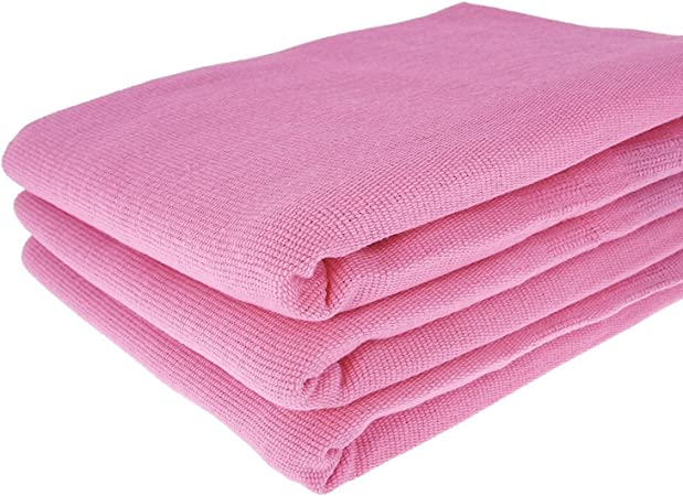 3 Color Rosa paños de algodón 100%/70 x 50 cm/Toalla/paños de cocina/ – Toalla/paño/rosa: Amazon.es: Hogar
