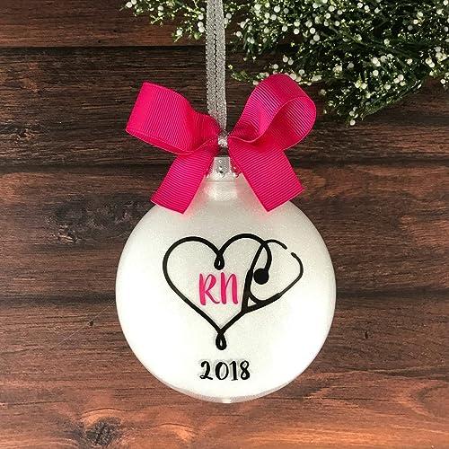RN Christmas Ornament Personalized, RN Graduation Gift, RN Ornament, Nurse  Ornaments 2017 - Amazon.com: RN Christmas Ornament Personalized, RN Graduation Gift