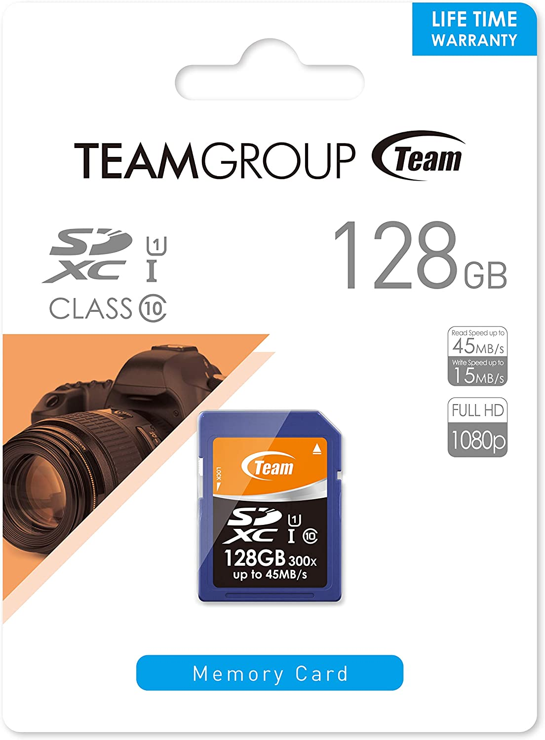 Read Speed up to 45MB//sec Team 128GB UHS-I SDXC CL10 Memory Card