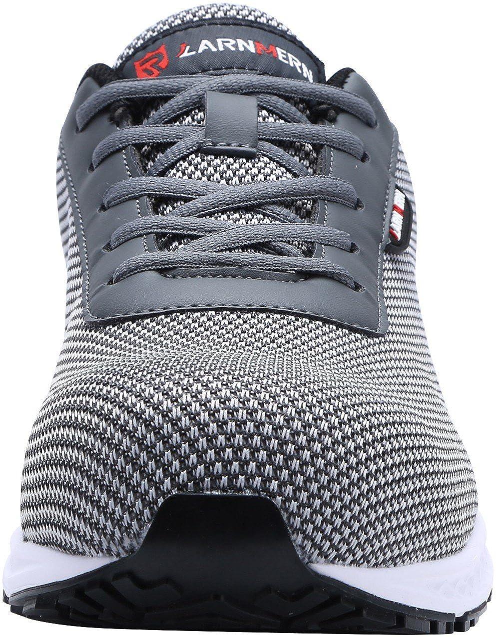 S1 Gris, 46 EU LM-30 Zapatillas de Trabajo con Punta de Acero Ultra Liviano Reflectivo Transpirable Zapatos de Seguridad Hombres
