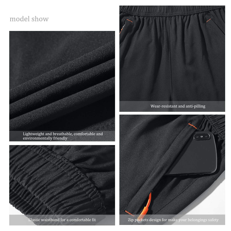 SUKUTU Short /à s/échage Rapide pour Hommes Short de Gymnastique l/âche l/éger Respirant avec Poches de Fermeture /à glissi/ère