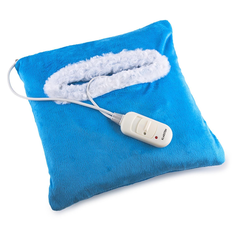 Klarstein Winter Dreams Almohadilla eléctrica (45W potencia, 35 x 35 cms, lavable, desmontable, cojín térmico eléctrico, textura suave, ...