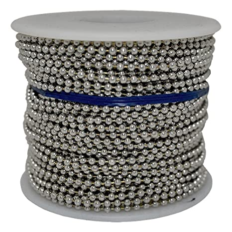 Cadena de bolas #3 bobina acero inoxidable 100 pies: Amazon ...