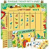 Potty Training Chart for Toddlers – Dinosaur Design - Sticker Chart, 4 Week Reward Chart, Certificate, Instruction Booklet an