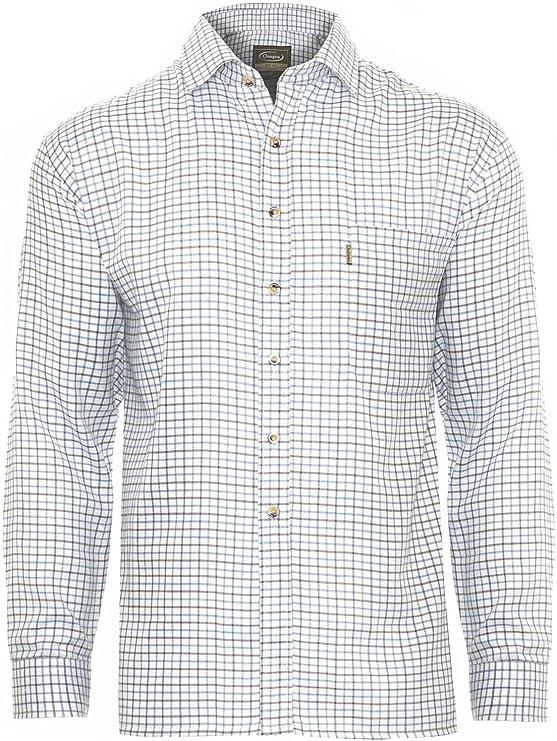 Champion Camisa de cuadros para hombre en polialgodón, ideal para pesca, caza, tiro – Tattersall azul azul L: Amazon.es: Ropa y accesorios