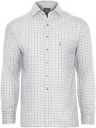 Champion Camisa de cuadros para hombre en polialgodón, ideal para pesca, caza, tiro – Tattersall